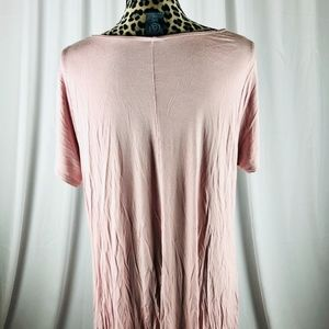 AGNES & DORA SHORT SLEEVE SWING TUNIC BLUSH EUC